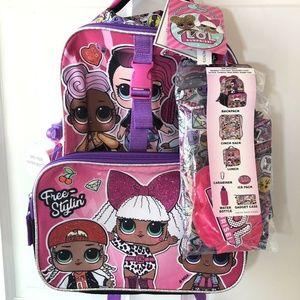 "L.O.L. Surprise! 16"" Kids' Rock The Beat Backpack"